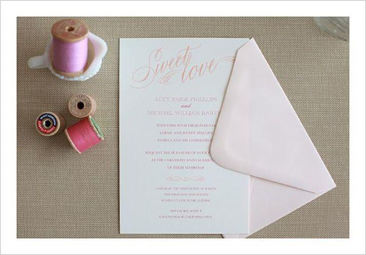 Sweet Love Script Printable Wedding Invitation