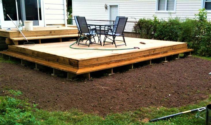 10 Beautiful DIY Backyard Decks on Diy Backyard Patio Cheap  id=56424