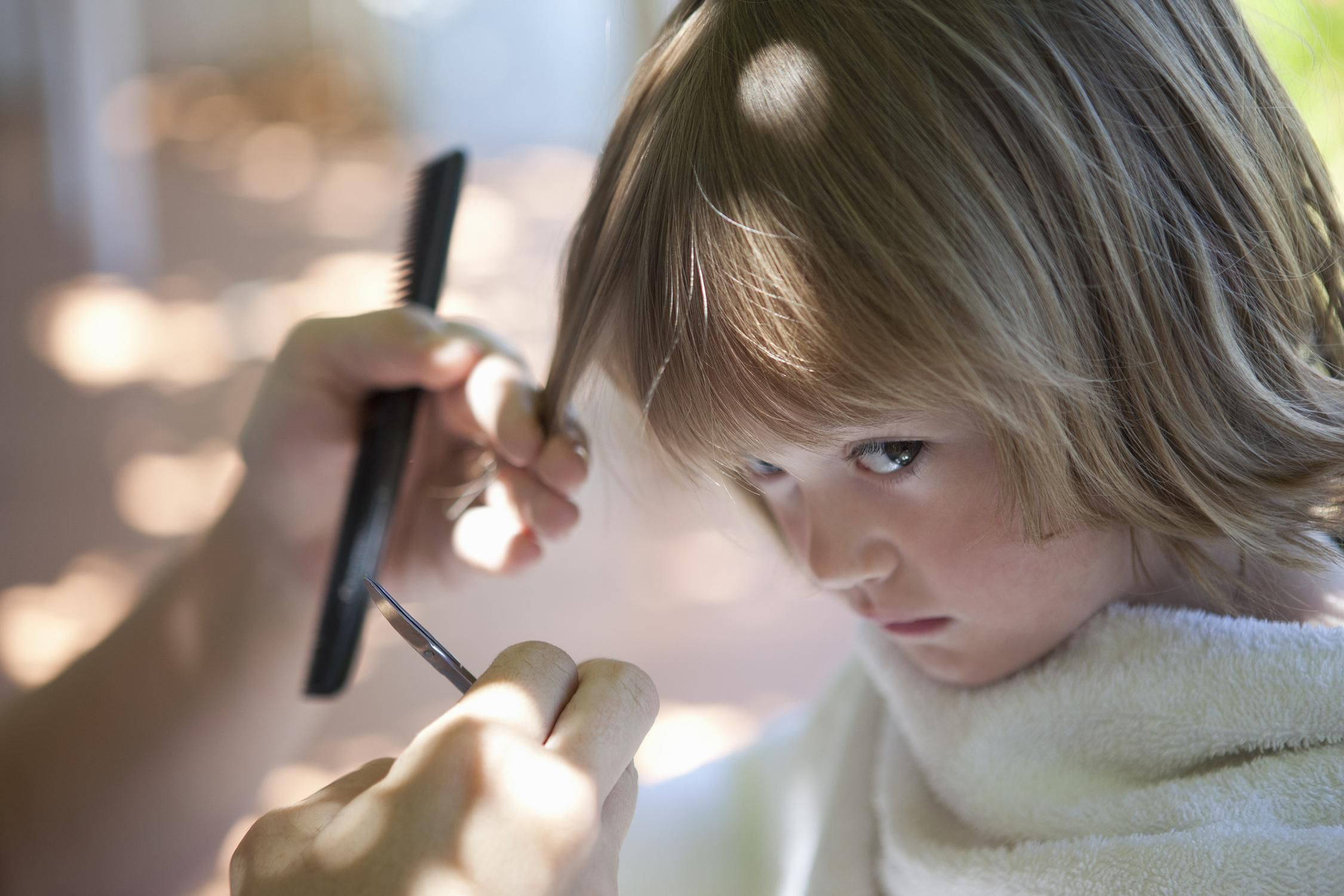Cut Your Children S Hair At Home The Easy Way