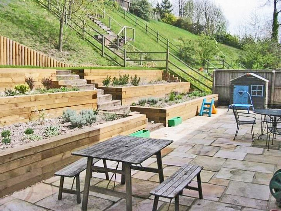 13 Hillside Landscaping Ideas to Maximize Your Yard on Terraced House Backyard Ideas id=27782