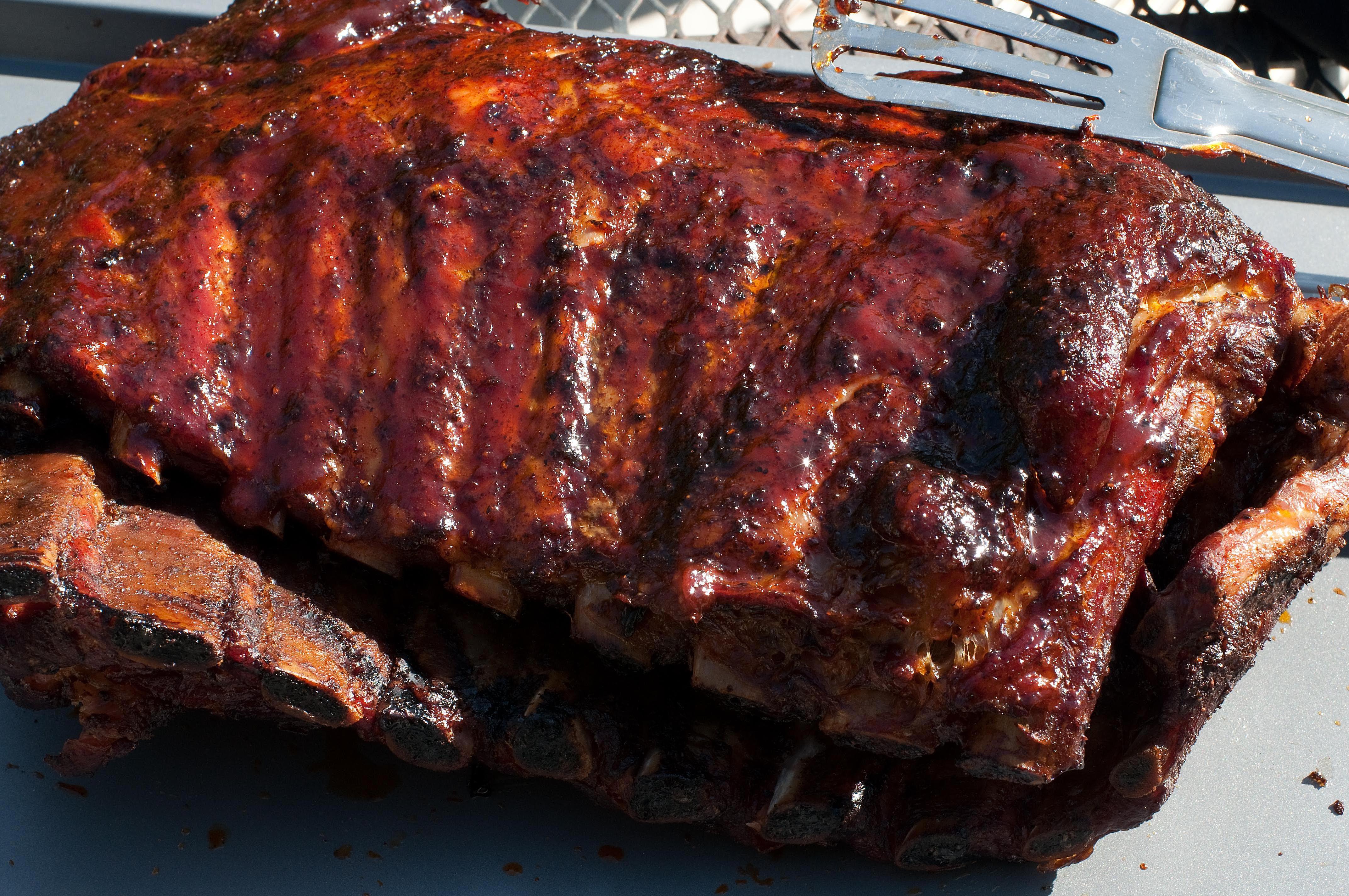 Hoisin Glazed Barbecue Pork Spare Ribs Recipe