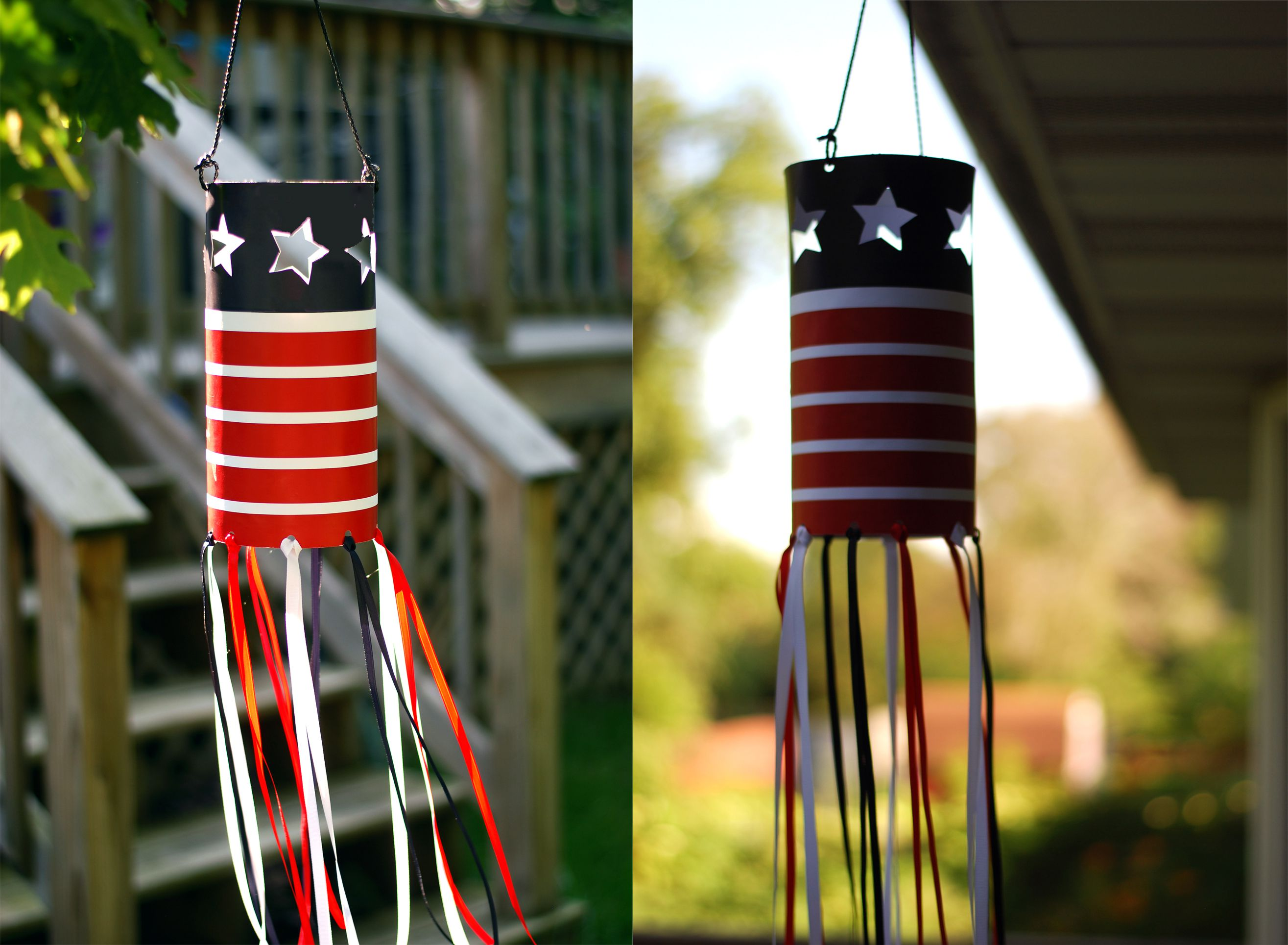 How To Make A 4th Of July Hanging Paper Lantern Craft