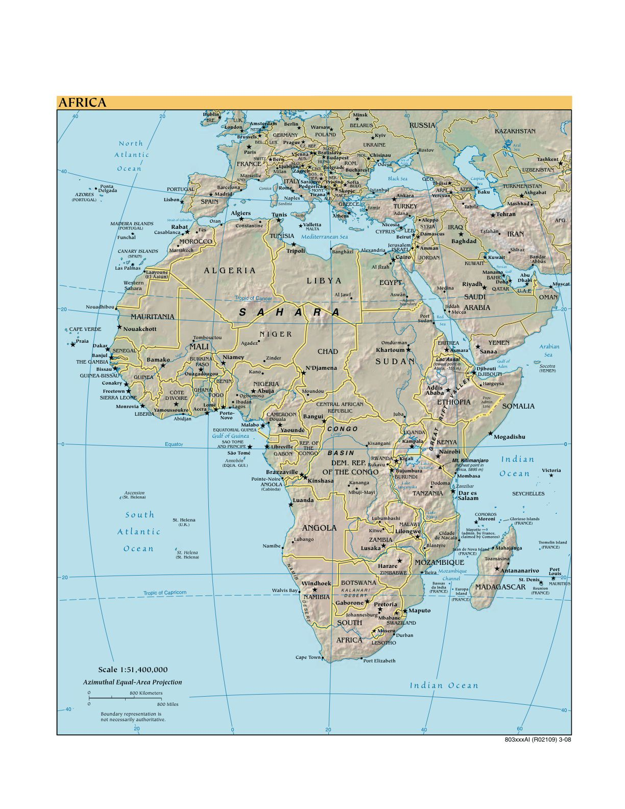 Various Maps Showing How Big Africa Is