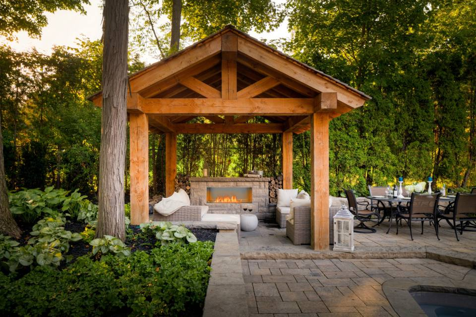 25 Warm and Welcoming Outdoor Fireplaces on Outdoor Kitchen And Fireplace Ideas id=41462