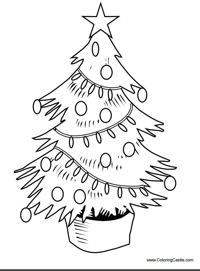 Christmas Tree Decoration Coloring Pages