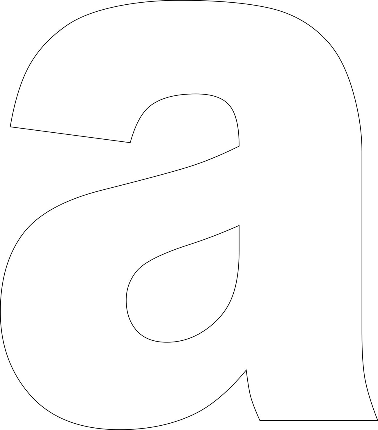 Free Printable Lower Case Alphabet Letter Template