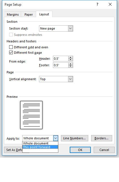 How to Vertically Align Text in Microsoft Word