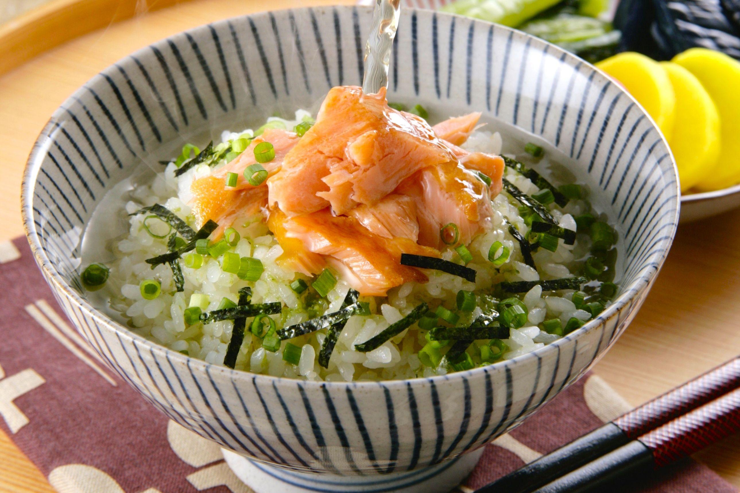 Salmon Ochazuke Recipe Rice With Green Tea