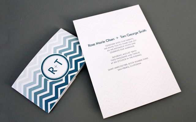 Chevron Wrapper Printable Wedding Invitation
