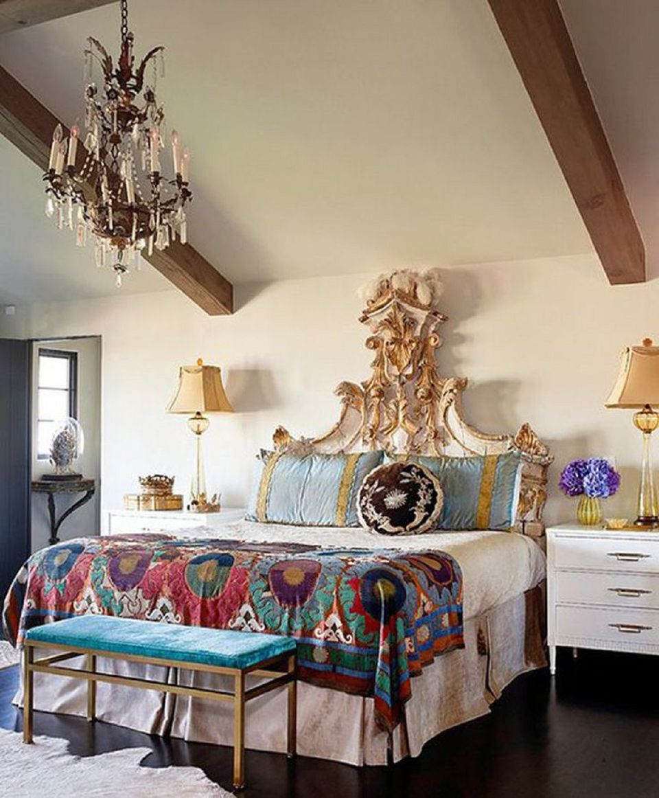 Beautiful Boho Bedroom Decorating Ideas and Photos on Bohemian Bedroom Ideas  id=64559