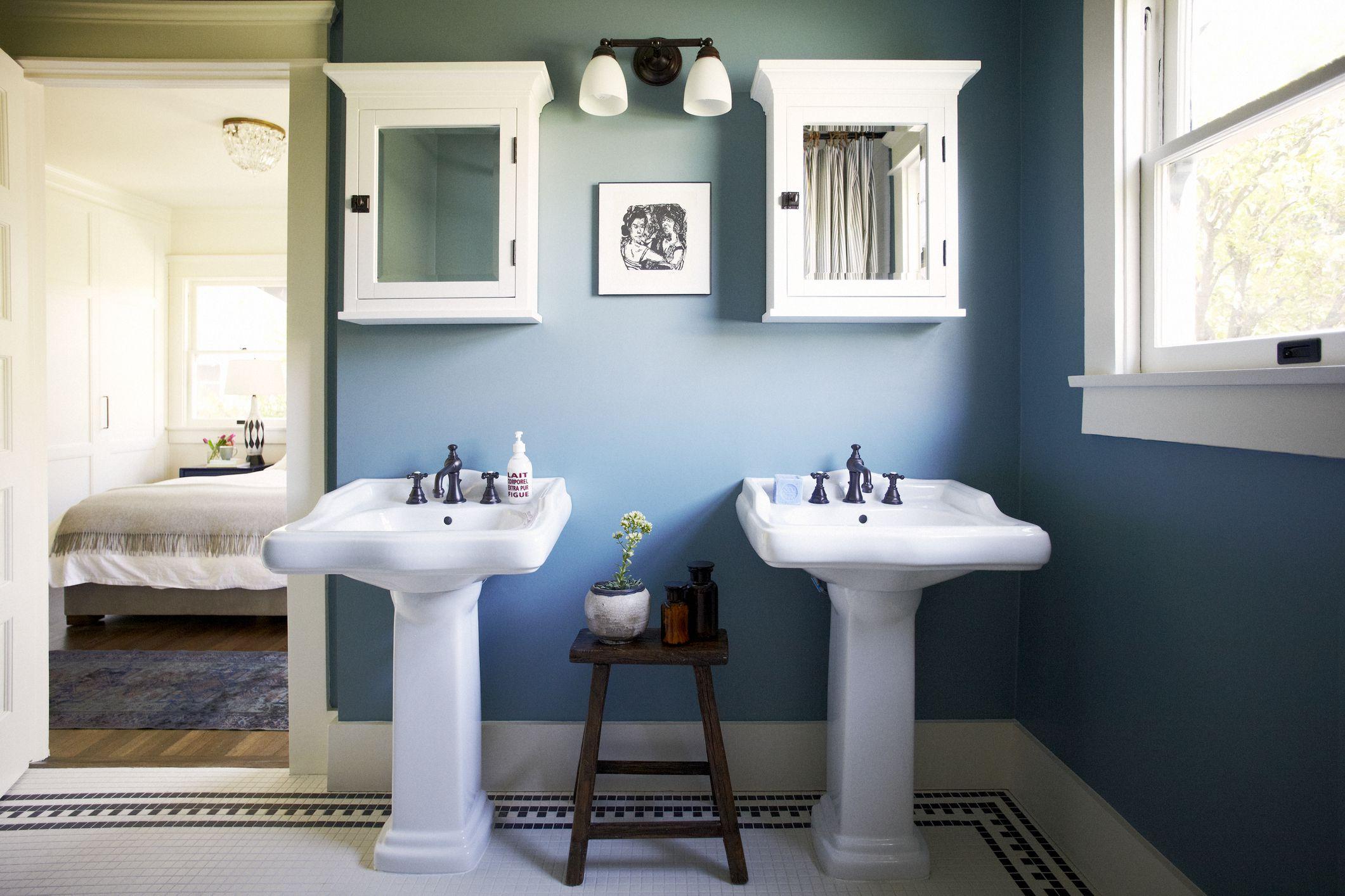 11 beautiful blue bathrooms on blue paint bathroom ideas exterior id=75793