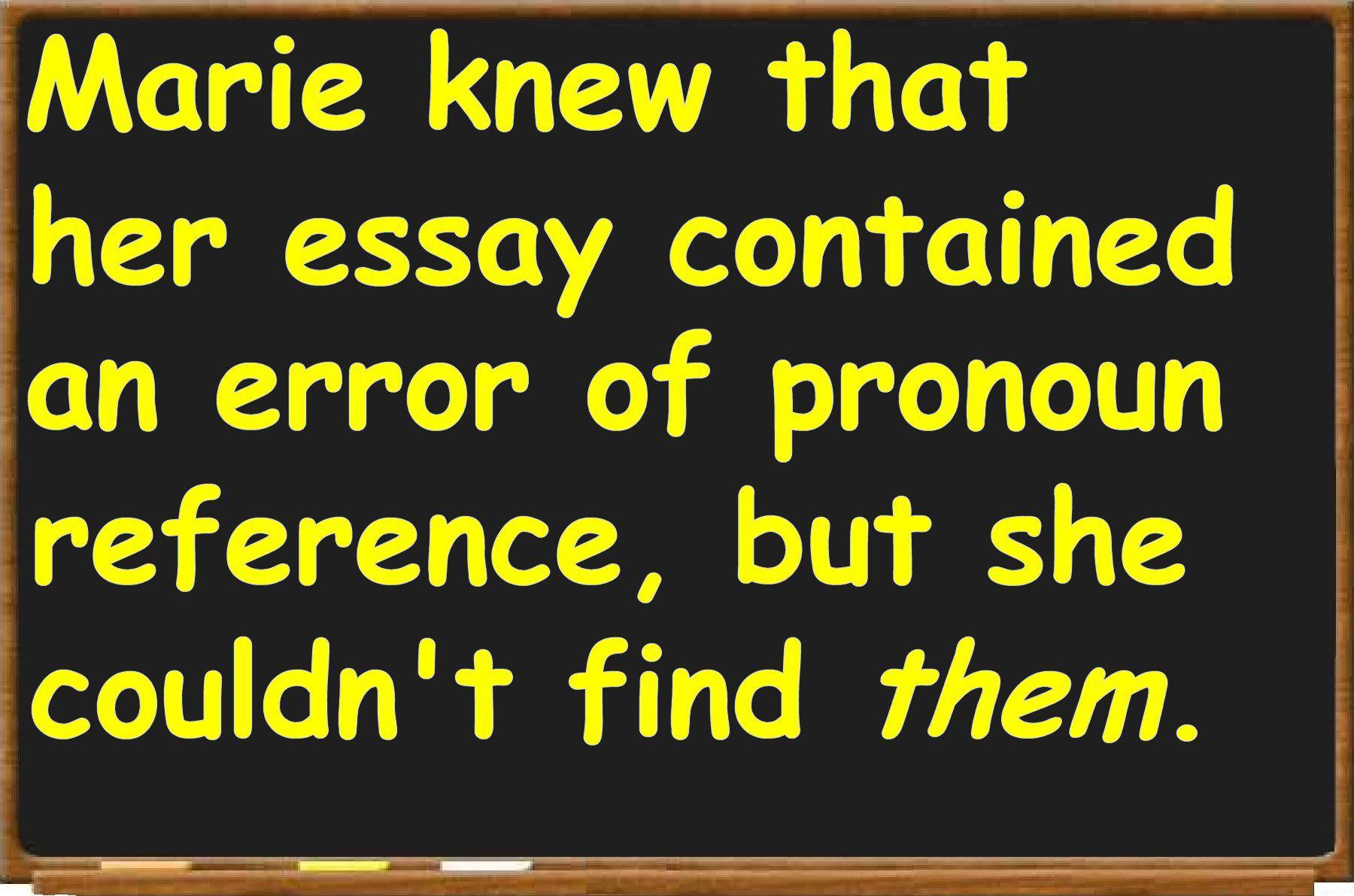 Pronoun Reference In English Grammar