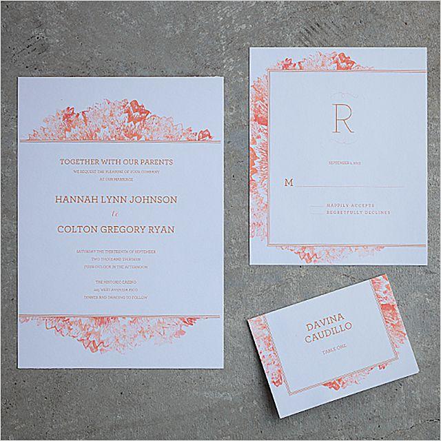 Watercolor Flowers Printable Wedding Invitation