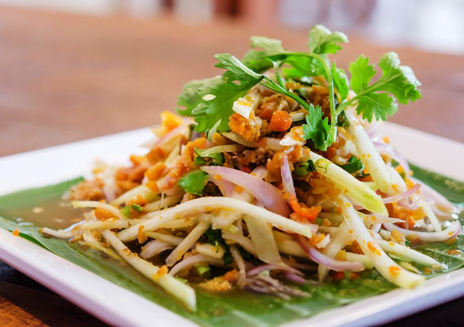 Thai Crab Salad With Creamy Coconut Lime Dressing