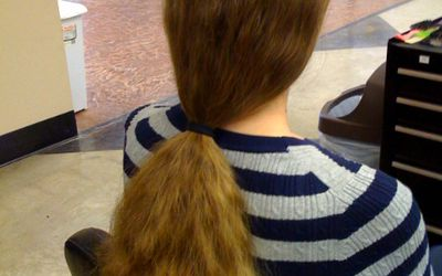 How long does hair have to be to donate