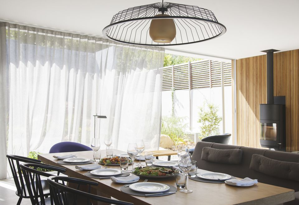 Add Softness to the Dining Room with Curtains & Drapes on Farmhouse:-Cra1Rtrksu= Dining Room Curtains  id=59875