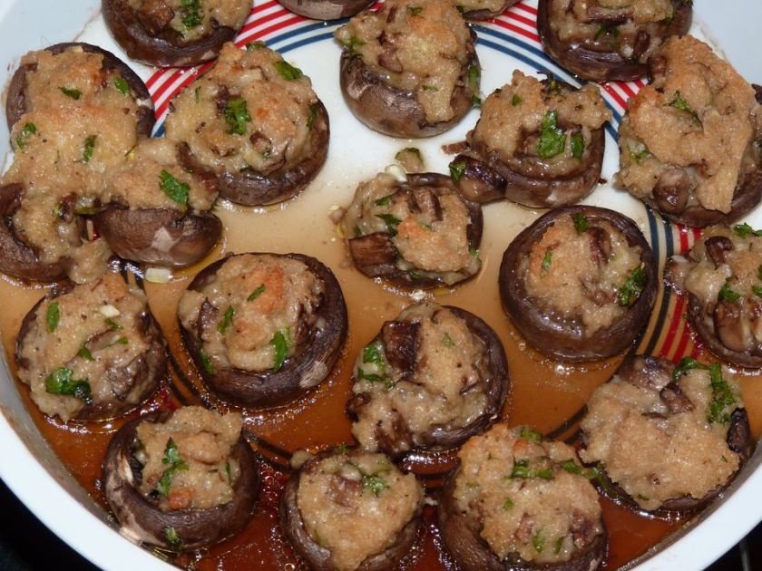 Italian Style, Delicious Vegetarian Stuffed Mushrooms