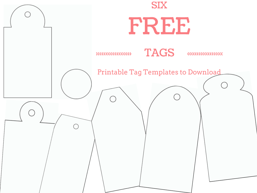 6 Free Printable T Tag Templates