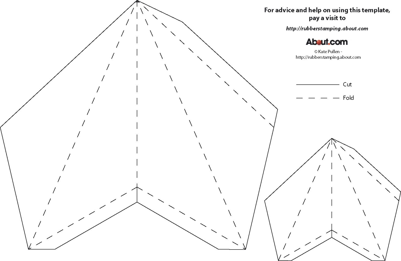 3d Paper Star Ornament Instructions And Template