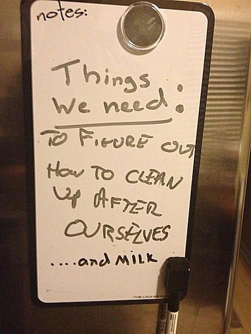 20 Hilarious Passive Aggressive Roommate Notes