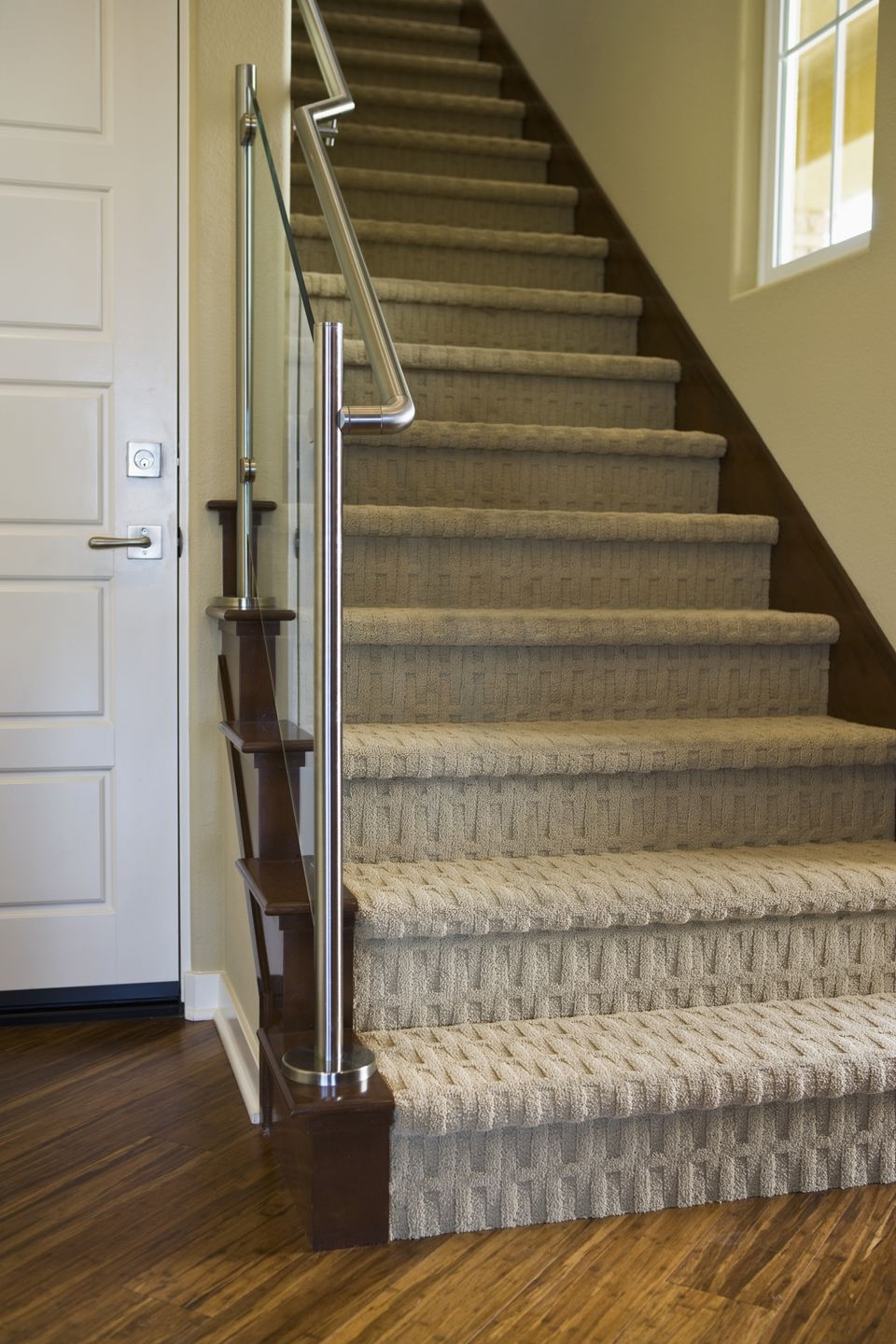 Patterned Carpet With Recessed Lighting   Carpet Colors For Stairs