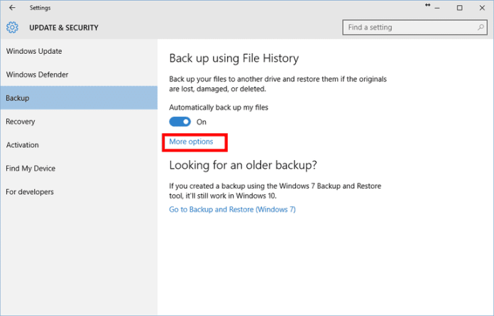 File History More options