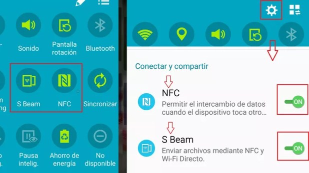 Share content from your cell phone with another using Android Beam