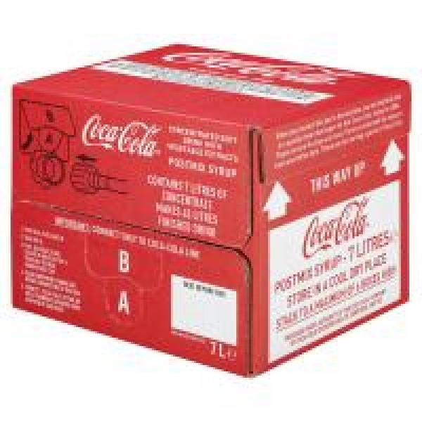 Coca Cola Postmix Syrup Mix 7 Litres   Approved Food