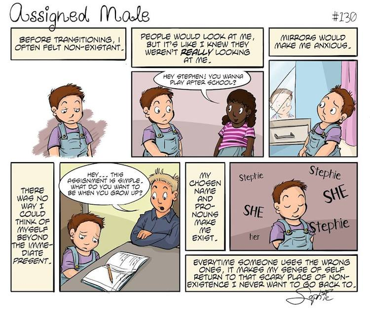 Assigned male comic book