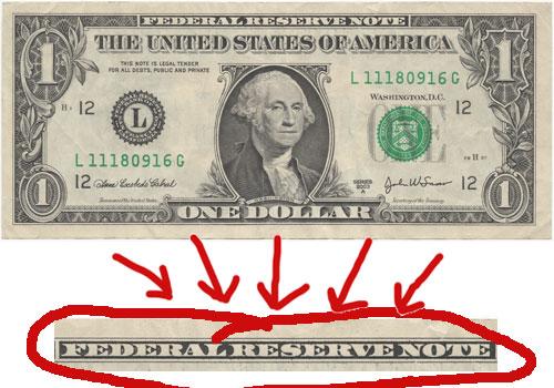 Federal Reserve Note - Geld is schuld en schuld is geld