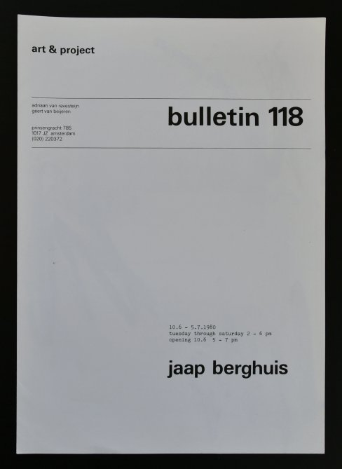 berghuis bulletin 118 a