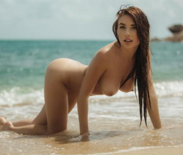 Niemira Brunette Model Girl Beauty Sexy Naked Beach