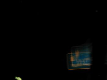 Road at night.