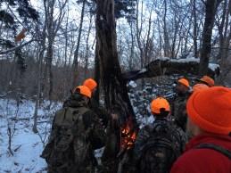 Boys warming up!