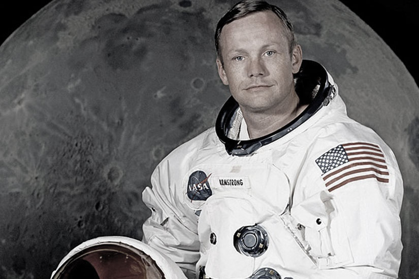 Neil Armstrong, Moon Image