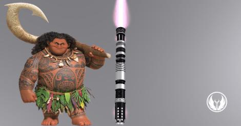 Maui himself and Kakau saber