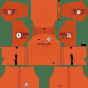 Manchester City Goalkeeper Home Kit 2019