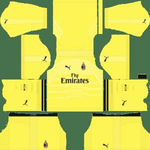 AC Milan Goalkeeper Home Kit 2019