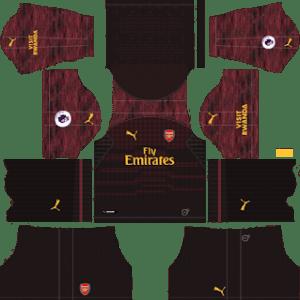 Arsenal Goalkeeper Home Kit 2019