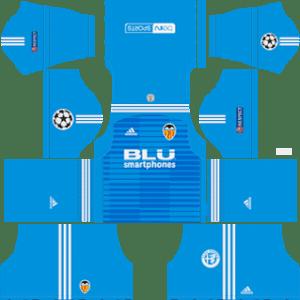 Valencia UCL Goalkeeper Away Kit