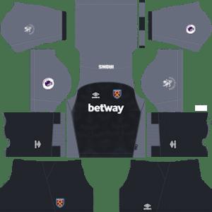 West Ham United Goalkeeper Home Kit 2019