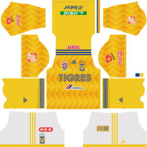 Tigres UANL Kits 2018/2019 Dream League Soccer
