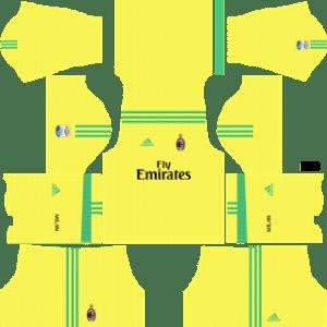 AC Milan Goalkeeper Away Kit 2018
