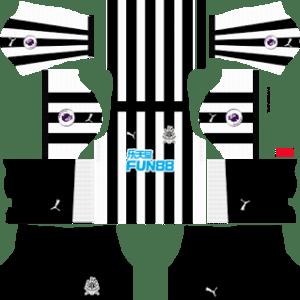 Newcastle United FC Kits 2017/2018 Dream League Soccer