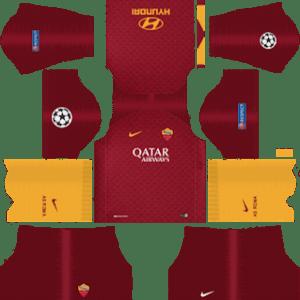AS Roma UCL Kits 2018/2019 Dream League Soccer