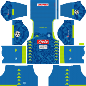S.S.C Napoli UCL Kits 2018/2019 Dream League Soccer