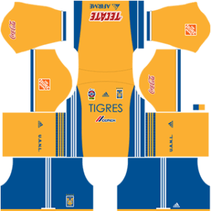 Tigres UANL Kits 2017/2018 Dream League Soccer