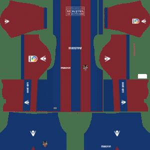 Levante UD Kits 2017/2018 Dream League Soccer