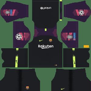 Barcelona UEFA Champions League Badge Goalkeeper Home Kit