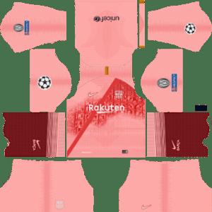 Barcelona UEFA Champions League Badge Third Kit